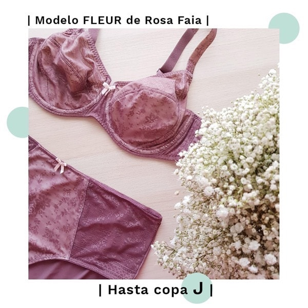 sujetador reductor fleur rosa faia